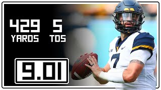 Will Grier Full Highlights West Virginia vs Tennessee || 9.01.18 || 429 Yards, 5 TDs