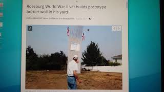 Roseburg Oregon Mexico Border Wall Prototype. America Bro. Contracts.