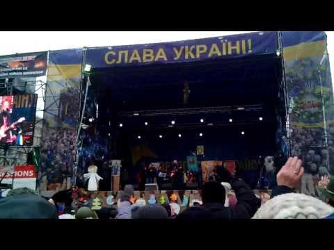 Taraka -- Podaj Rękę Ukrainie in Kiev. Euromaidan. Евромайдан