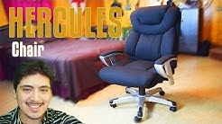 HERCULES Big & Tall Black Fabric Office Chair Build | Also a Vlog
