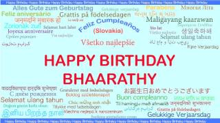 Bhaarathy   Languages Idiomas - Happy Birthday
