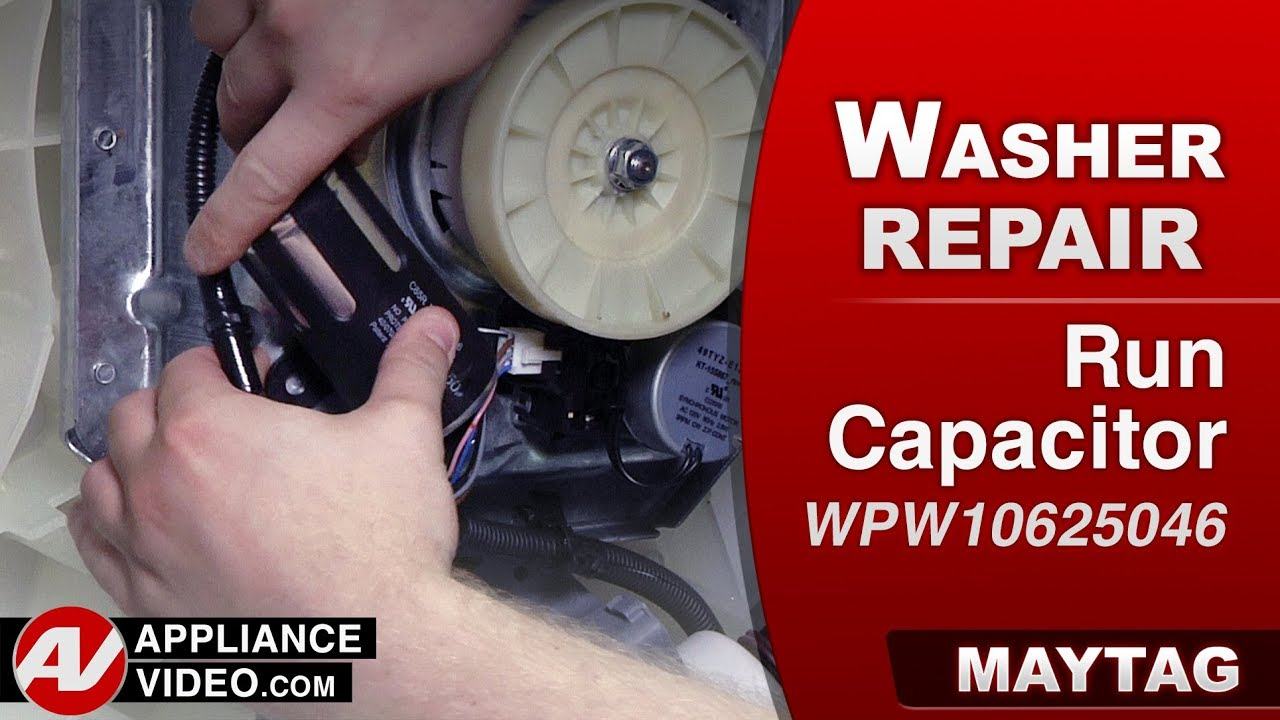 Whirlpool, Maytag & Kenmore Washer- Run Capacitor -Diagnostic & Repair