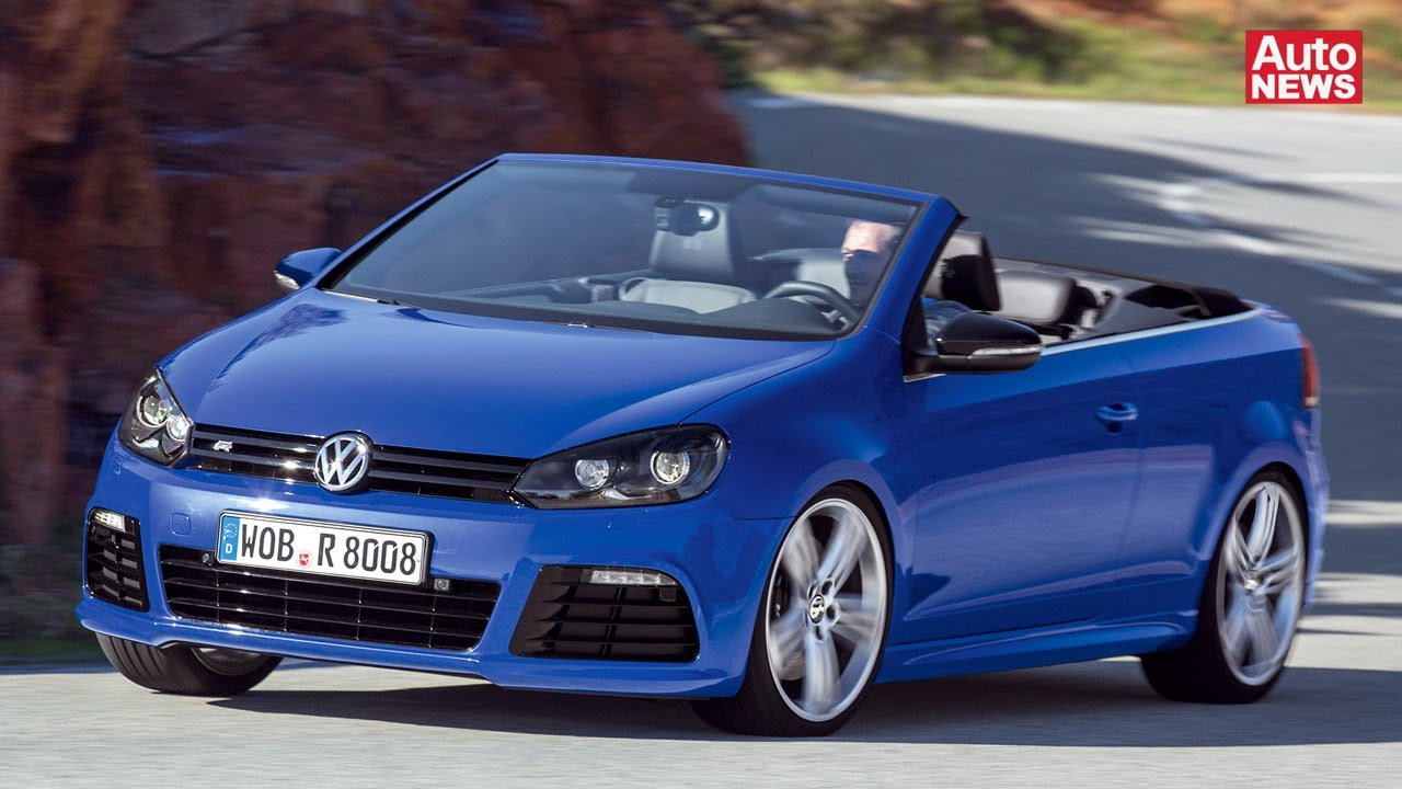 vw golf r cabrio mit 265 ps schneller sechser youtube. Black Bedroom Furniture Sets. Home Design Ideas