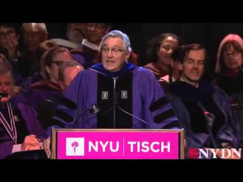 Robert De Niro gives amazing graduation speech to NYU grads