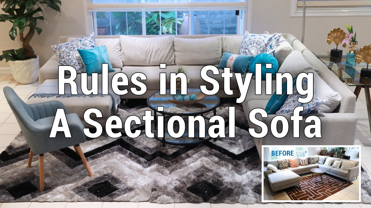 rules in styling a sectional sofa mf home tv