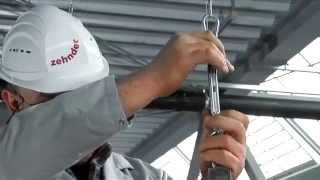 zehnder heating and cooling ceiling system installing radiant ceiling panels