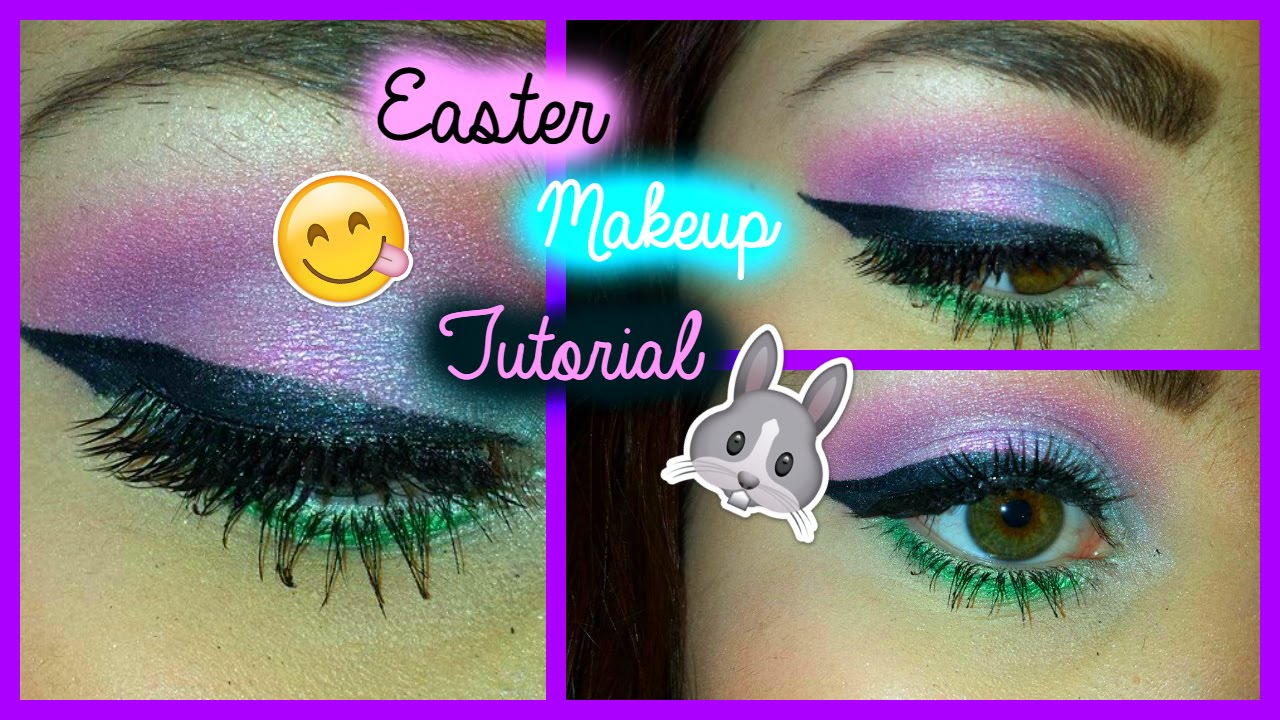 Easter eyeshadow makeup tutorial youtube.