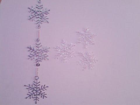 Christmas Decoration ideas - Hot Glue Snowflakes