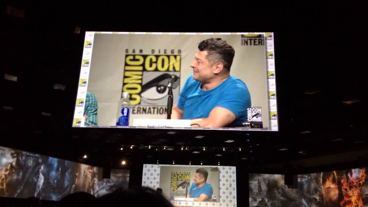 Download 'The Hobbit' panel at Comic Con 2014 Where would Gollum go to if he attended SDCC?