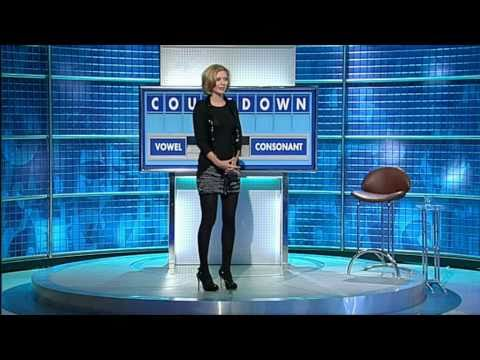 Rachel Riley in a See-Thru Top & Black Nylons