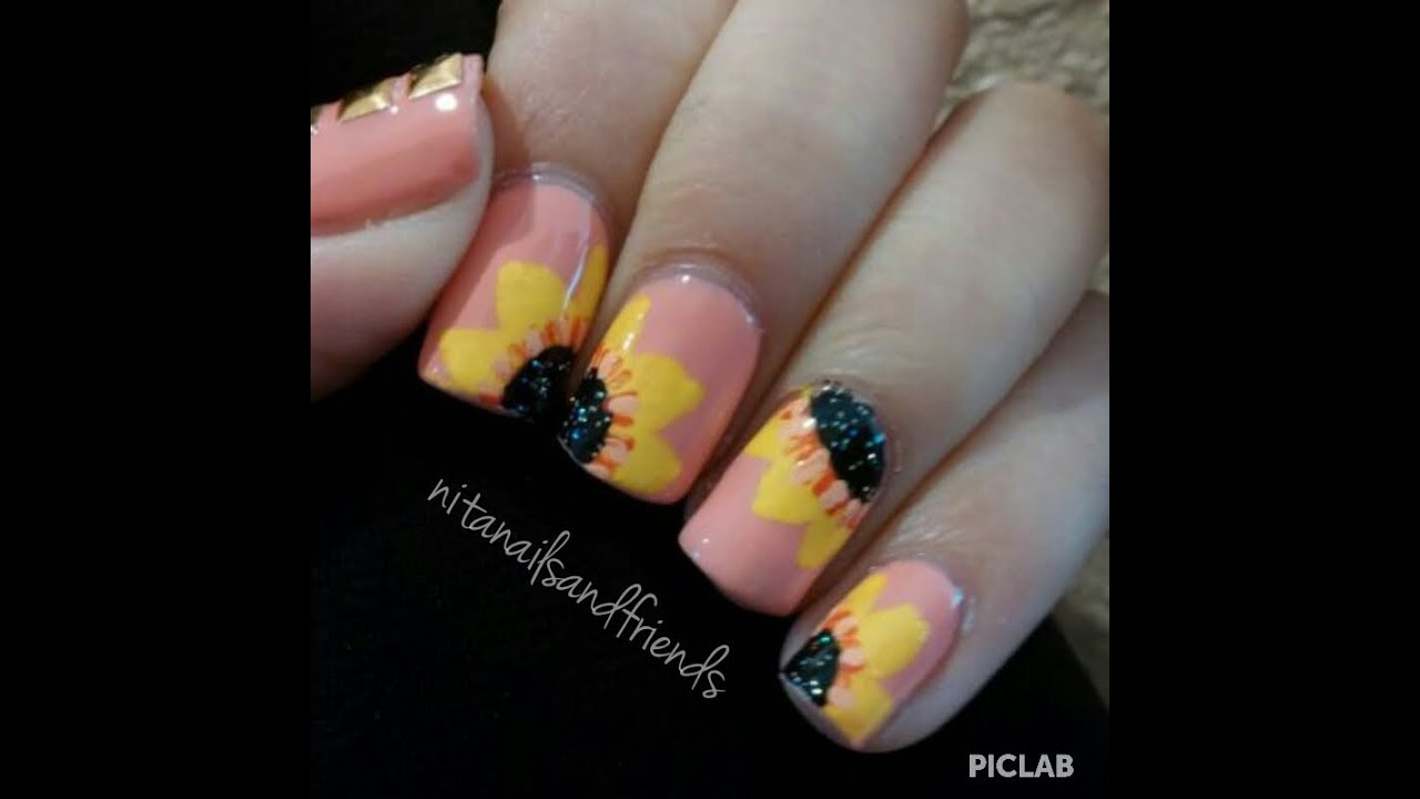 15 Sunflower Nail Designs For Summer And Beyond