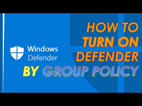How to enable Windows Defender by Group Policy in Windows 10 || Windows 8 || Windows 8 1