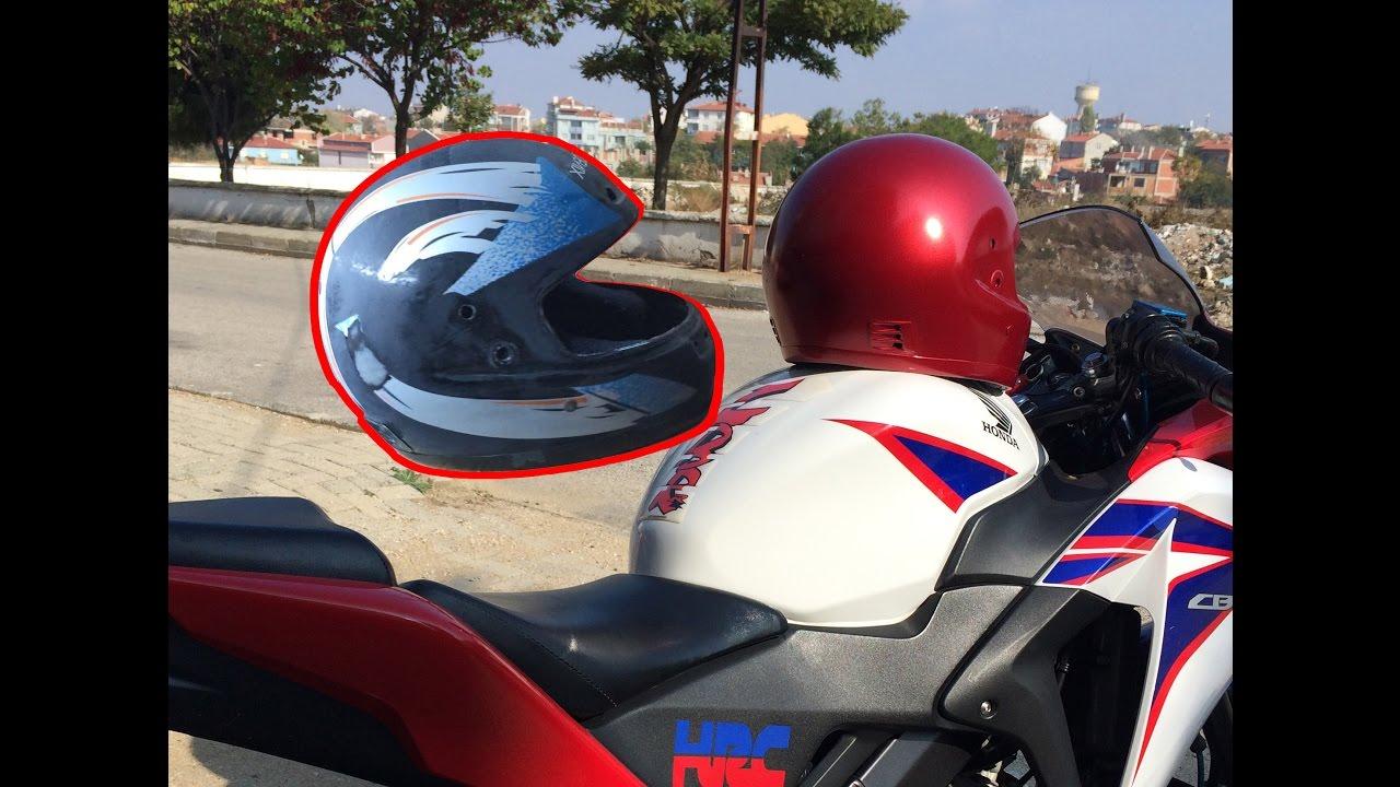 Kask Boyama 1 Helmet Painting Honda Vfr800 Red 1 Youtube