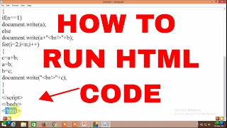 How to run and execute HTML code in windows