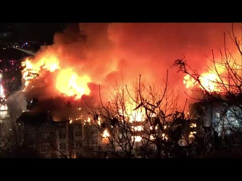 Out Of Control 7th Alarm Fire In Edgewater New Jersey Avalon Apartment Complex