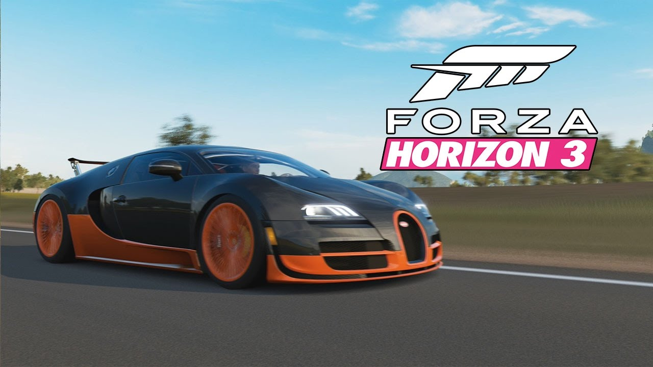 forza horizon 3 1 400 hp bugatti veyron super sport 271 mph top speed challenge top speed. Black Bedroom Furniture Sets. Home Design Ideas