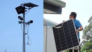 ต่อโซล่าเซลล์สำหรับกล้องไร้สาย  Solar cell for IP-Cam