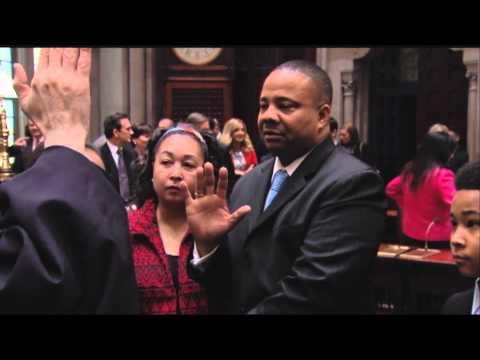 New York State Senator Jesse Hamilton Takes The Oath Of Office