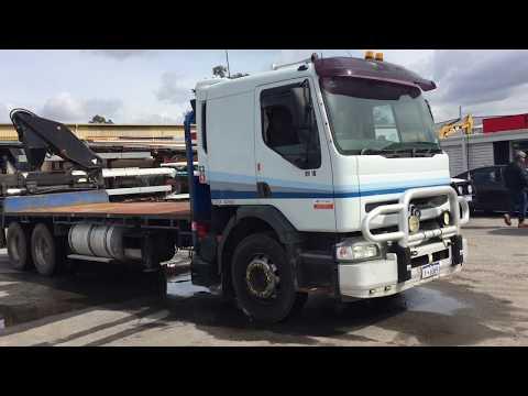 POC011 - 2001 Mack Premium 6x2 Flat Bed Rear Mounted Knuckle Boom Crane Truck (HV10)