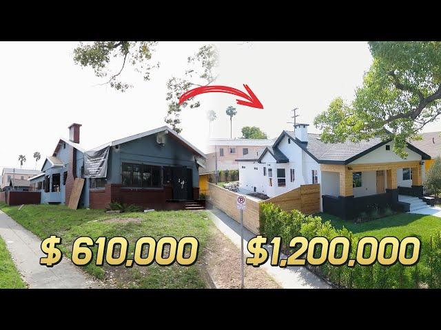 엘에이 남쪽 불에 탔던 집, 리모델링 비용만 20만불이 들어간 단독주택