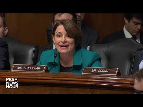 watch:-sen.-klobuchar-pushes-back-on-barr's-conclusion-against-trump-obstruction-of-justice