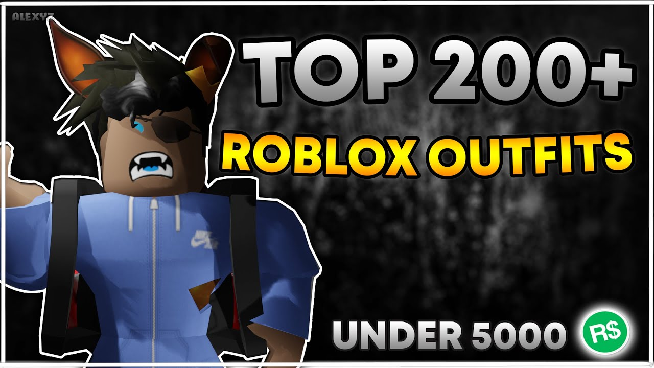 Top 200 Cool Roblox Boys Girls Outfits Under 5000 Robux
