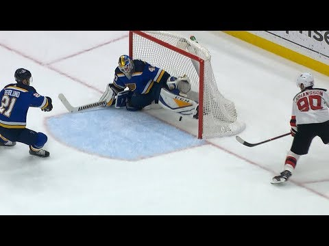 Carter Hutton robs Marcus Johansson in overtime