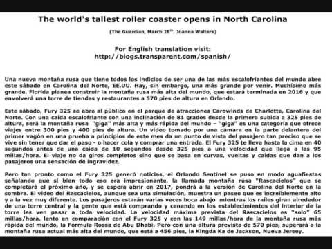 Spanish-English Parallel Texts - The News - World's tallest roller coaster
