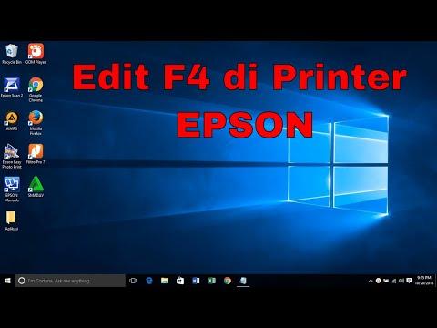 Cara menambahkan ukuran kertas F4 pada printer epson.
