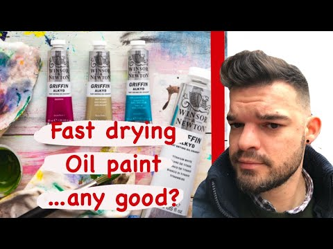 Art supplies review: Winsor & Newton Alkyd Griffin fast drying oil paint first impression and review