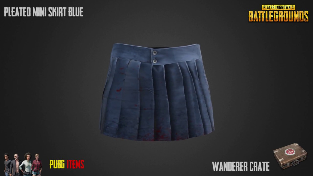 "Image result for Pleated Mini-skirt (Blue) pubg"" Most expensive PUBG item sets"