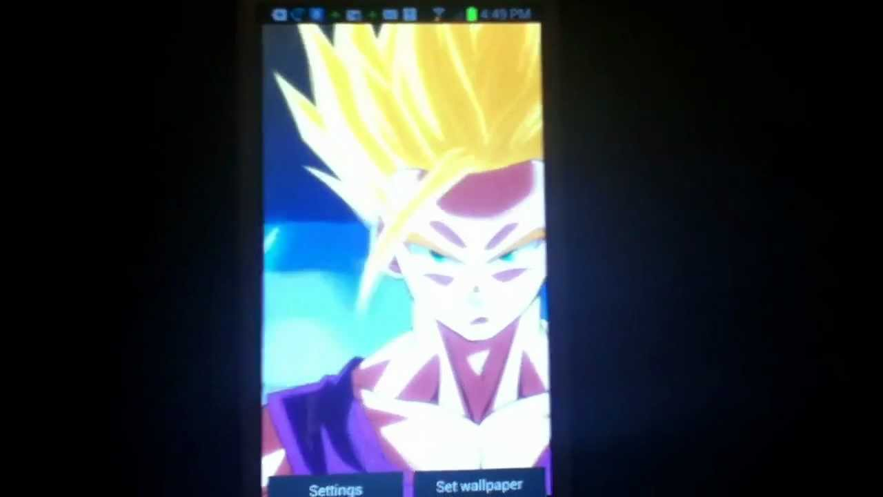 Dragon Ball Super Live Wallpaper Iphone X Dragon Ball Z Android Live Wallpaper Quot Gohan Ssj2 Quot Youtube