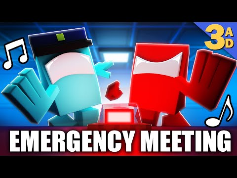 """""""EMERGENCY MEETING"""" Among Us Minecraft Music Video   3A Display"""