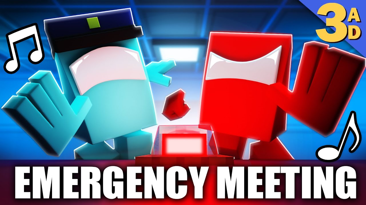 """""""EMERGENCY MEETING"""" Among Us Minecraft Music Video 