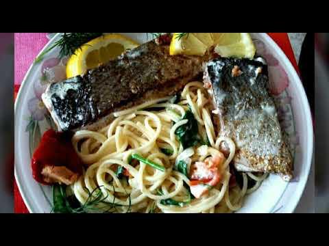 pâtes-au-saumon---crème-fraiche.-alfredo-salmon-pasta