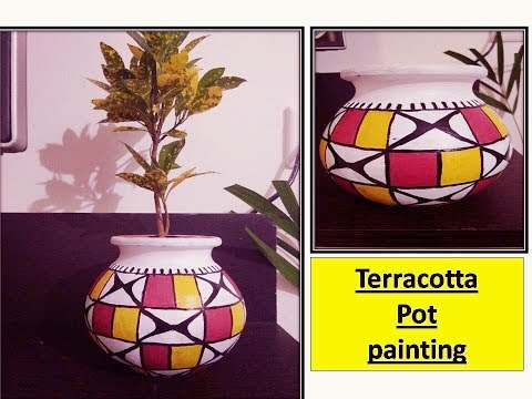 DIY | terracotta pot painting |simple and easy home decor ideas
