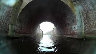 Indoor rowing scenery  Naarden, NL fortress moat!