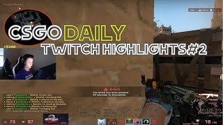 COUNTER STRIKE DAILY PRO TWITCH HIGHLIGHT #2. STEWIE2K KILLS WITH FLASHBANG AND CALLS IT!!!(CSGO)