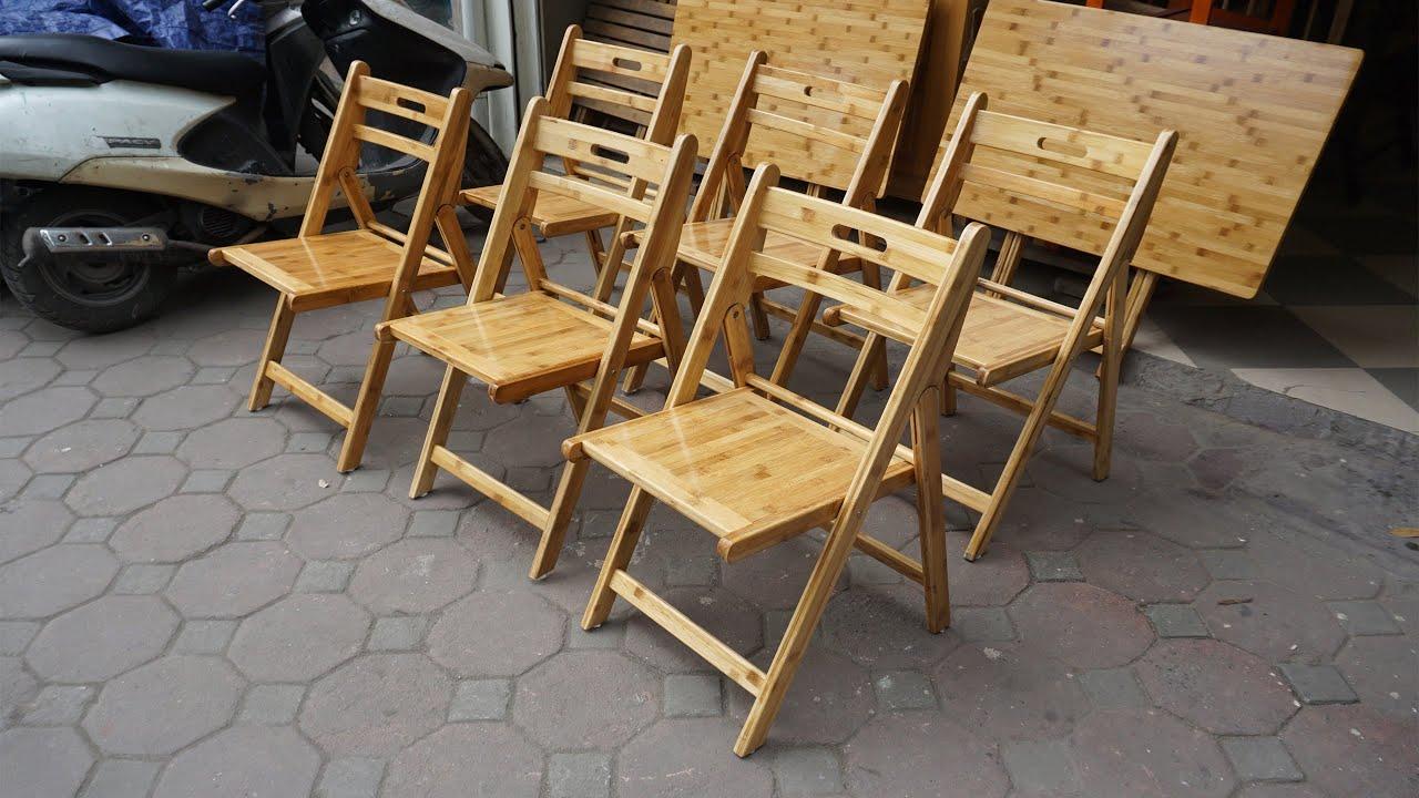 Bàn Gấp Và Ghế Gấp Tre – Bamboo Folding Tables And Bamboo Folding Chairs
