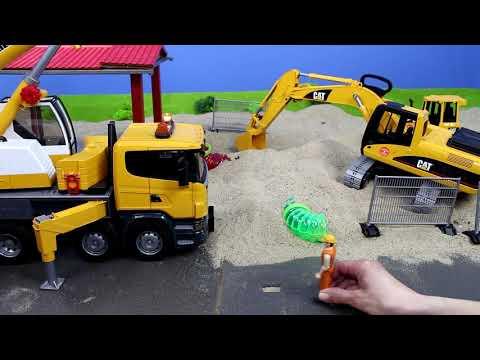 Bagger, Lastwagen, Kran, Truck & Traktor Baustelle für Kinder | Alle BRUDER Toys Spielzeugautos