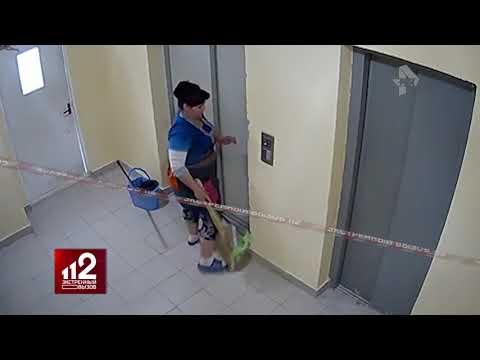 Лифт едва не убил женщину. Видео!