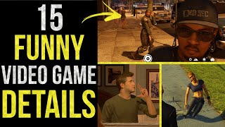 15 FUNNY Details in Video Games