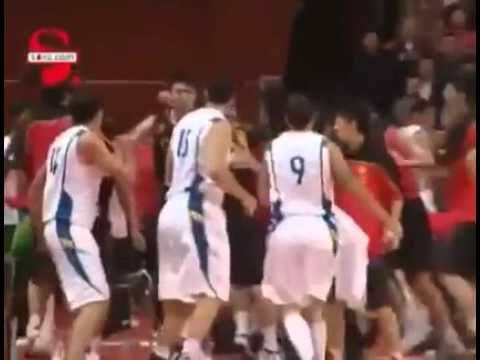 Fiba Asia: China VS brazil Fight Scene