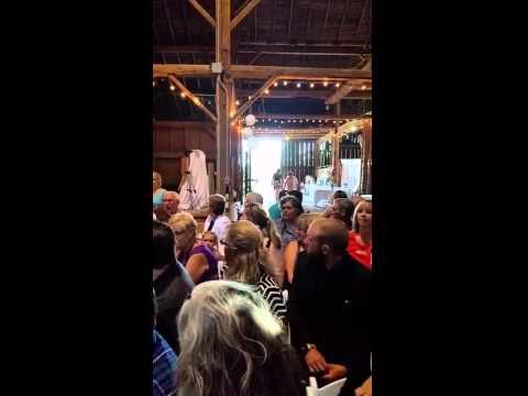 Best wedding entrance ( barn wedding)