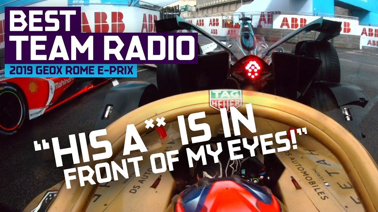 Best Team Radio | 2019 GEOX Rome E-Prix | ABB FIA Formula E Championship