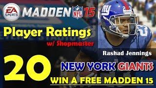 Madden 15 Player Ratings and Team Breakdown - New York Giants
