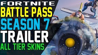 Fortnite SEASON 7 BATTLE PASS TRAILER - Zenith Skin, Lynx Progressive Skin sgt. Winter Skin plus