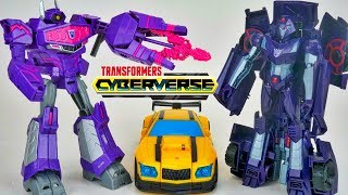 Transformers Cyberverse Ultra Shockwave Shadow Striker Action Attack Bumblebee
