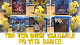 Top Ten Most Valuable PS Vita games (Standard Editions)