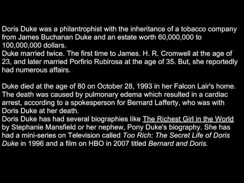 A Death A Day - October 28, 2010 - Doris Duke